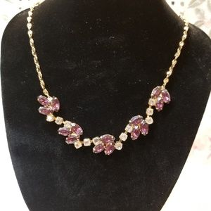 Beautiful amethyst and cubic zirconia